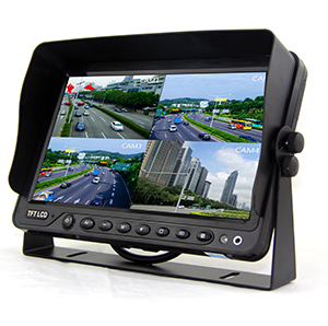7 inch/9inch/10.1 inch quad HD monitor with DVR function support 256G SD card video recording