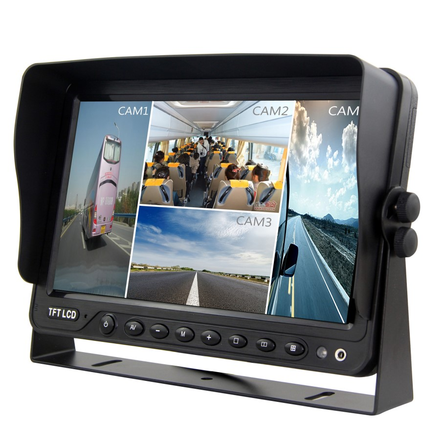 10.1 inch quad HD monitor with DVR function support 256G SD card video recording