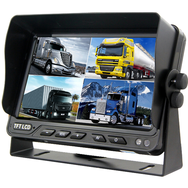 9 inch quad HD monitor with DVR function